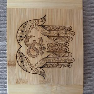 Ohm symbol bar cutting board